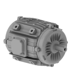 220/380 V 50 Hz 2P - W22 Fan and Exhaust 200°C 2h IE1 0.75 kW IC410 - TEAO - B30L(D)